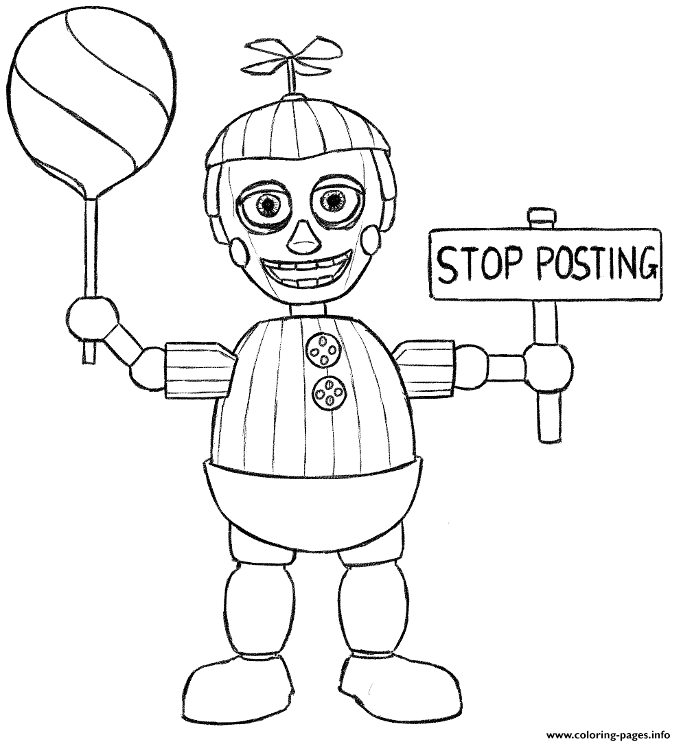 Fnaf Coloring Pages Online At Getdrawingscom Free For Personal