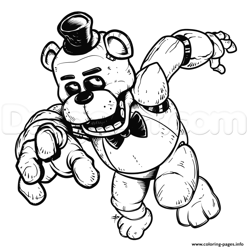 graphic relating to Five Nights at Freddy's Printable Mask titled Fnaf Coloring Webpages On the web at  Free of charge for