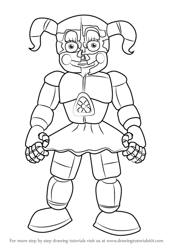 graphic about Five Nights at Freddy's Coloring Pages Printable called Fnaf Coloring Internet pages Printable at  No cost for