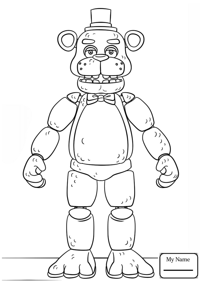 picture about Five Nights at Freddy's Coloring Pages Printable identify Fnaf Coloring Internet pages Printable at  Free of charge for