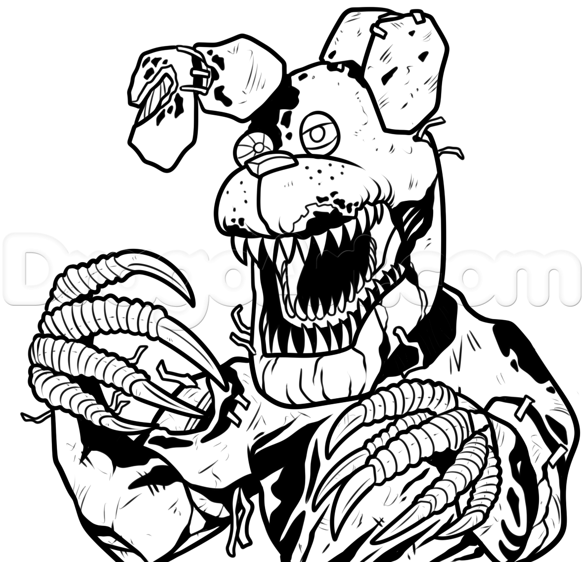 √ 24 Five Nights at Freddy's Coloring Page in 2020 | Fnaf ... | 1136x1181