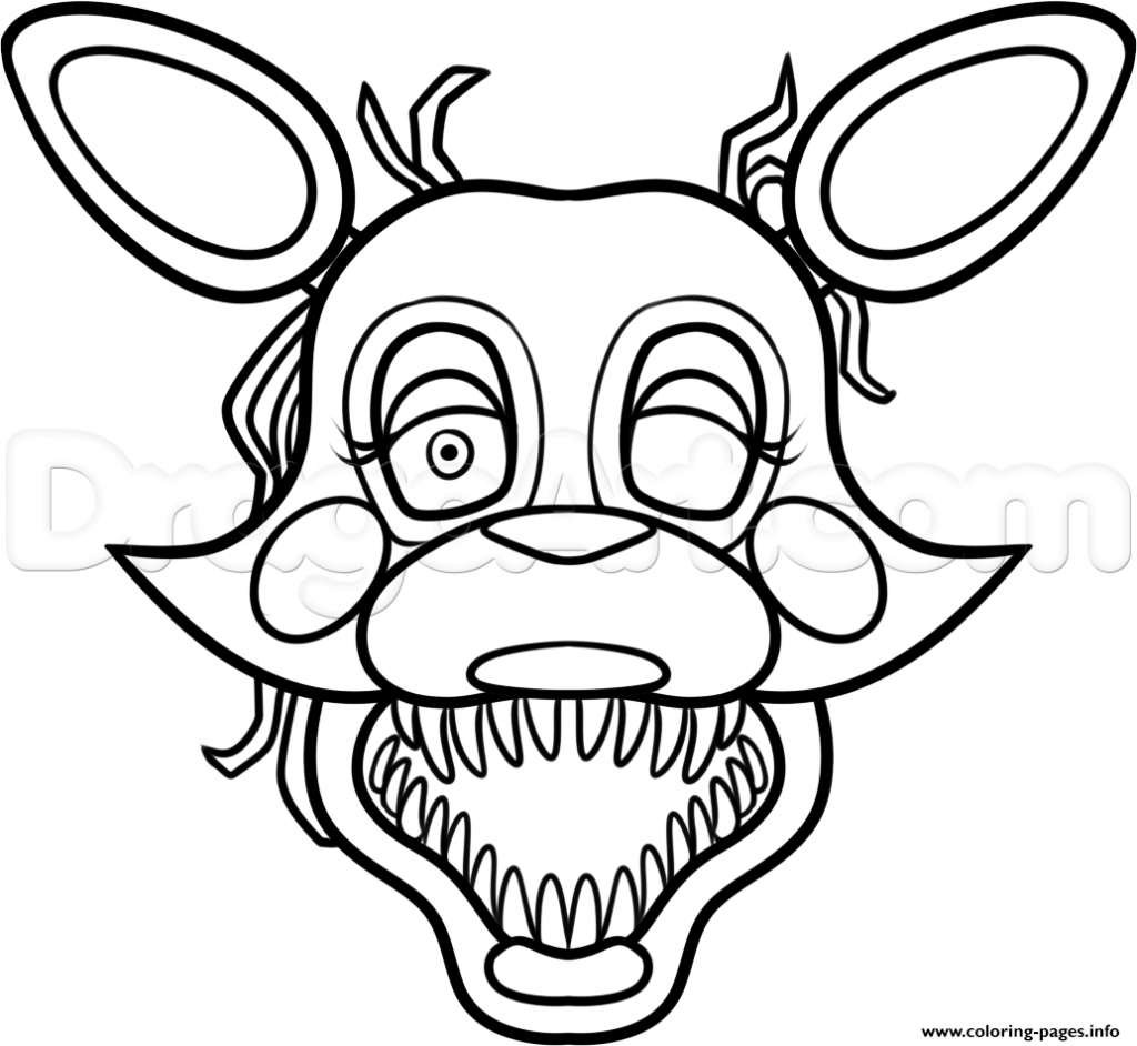 1024x942 Fnaf Mangle Coloring Pages