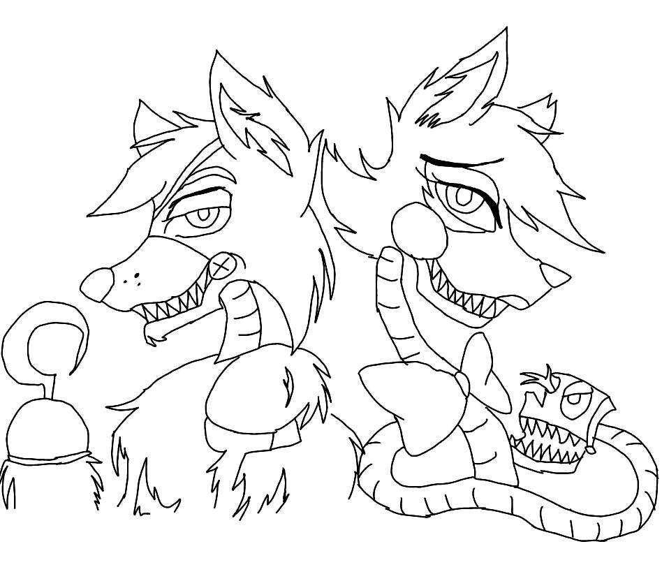 948x842 Mangle Drawing Remarkable Fnaf Coloring Pages