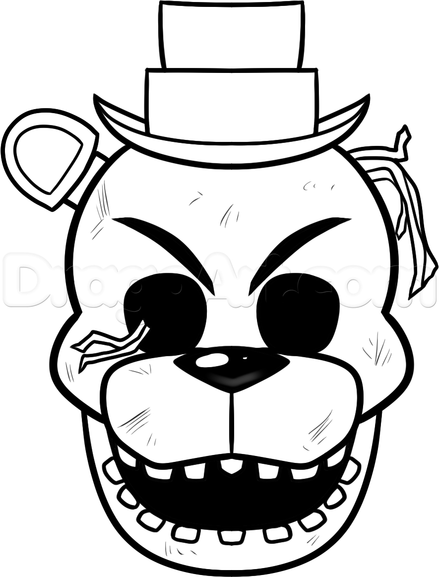 885x1163 Printable Freddy Coloring Pages Golden Sketch Coloring Page
