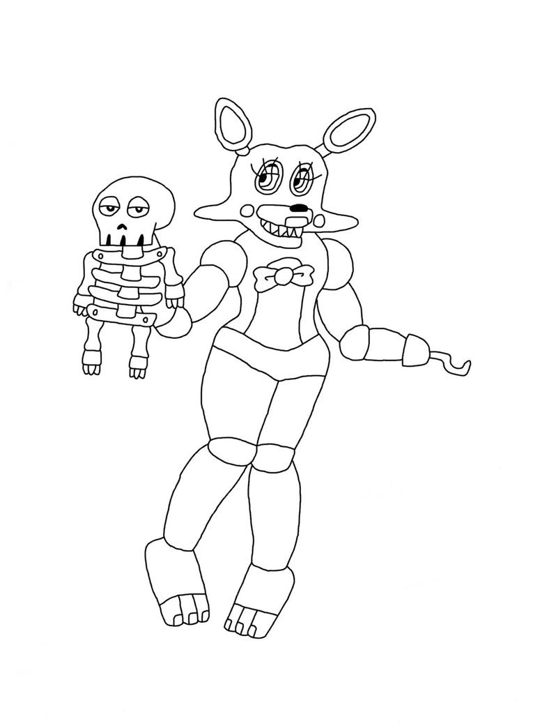 765x1044 Quick Fnaf Mangle Coloring Pages Printable Free Coloring Pages
