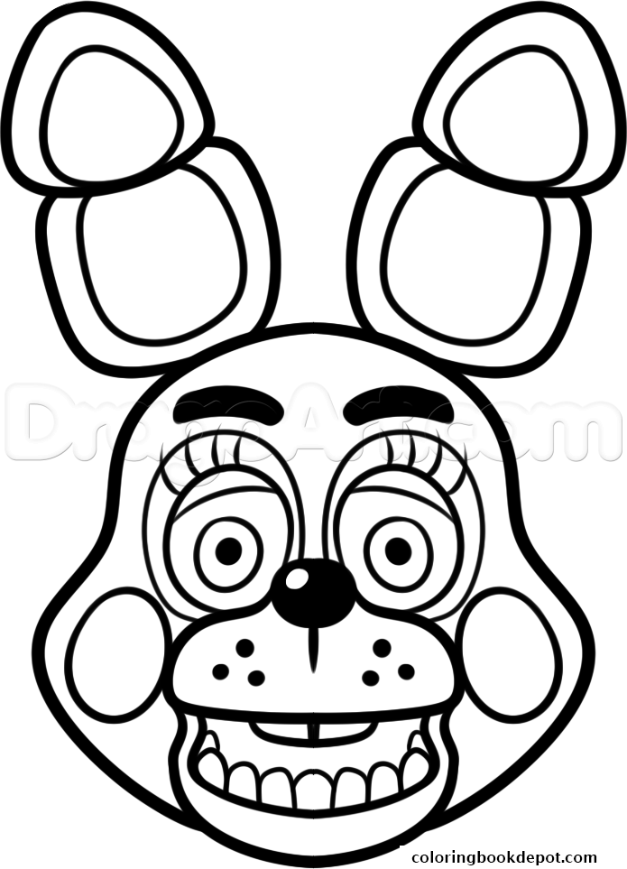 695x963 Mangle Golden Freddy Face Fnaf Coloring Pages