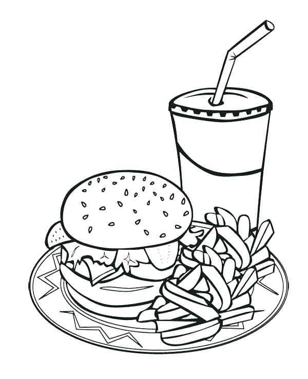 600x739 Food Coloring Page Food Chain Coloring Pages Food Coloring Pages