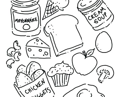 495x400 Food Coloring Pages Food Coloring Pages Roast Food Coloring Pages