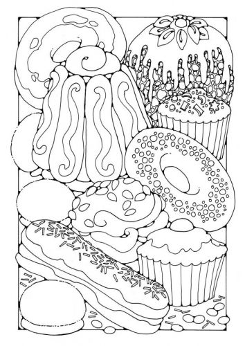 354x500 Food Coloring Pages For Adults Coloring Pages