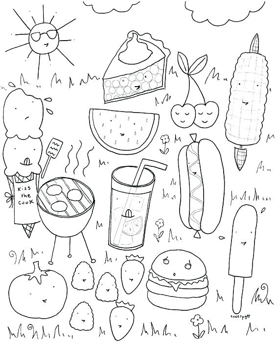 564x705 Colouring Ideas Summer Food