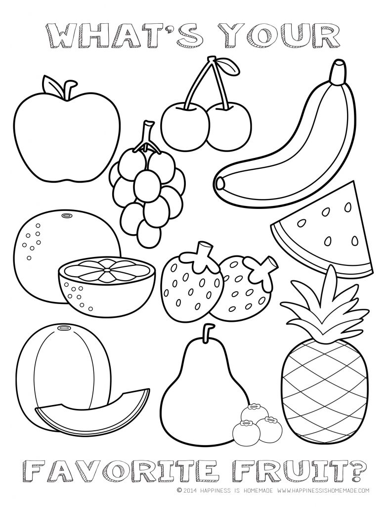 791x1024 Healthy Food Coloring Pages