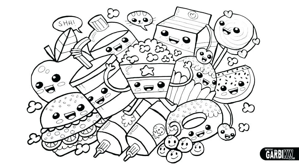 971x546 Coloring Pages Of Food