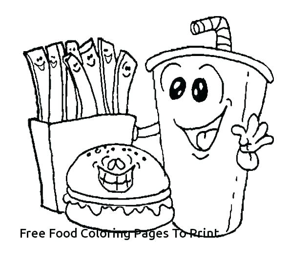 592x536 Healthy Food Coloring Pages