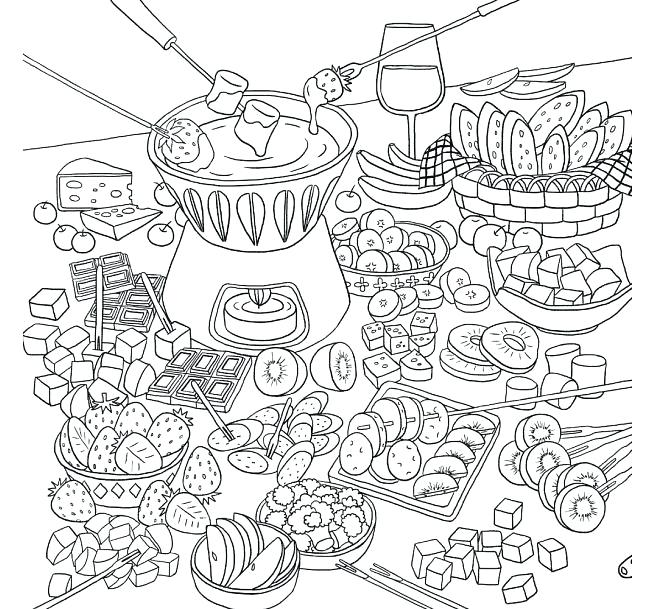 655x609 Adult Food Coloring Pages