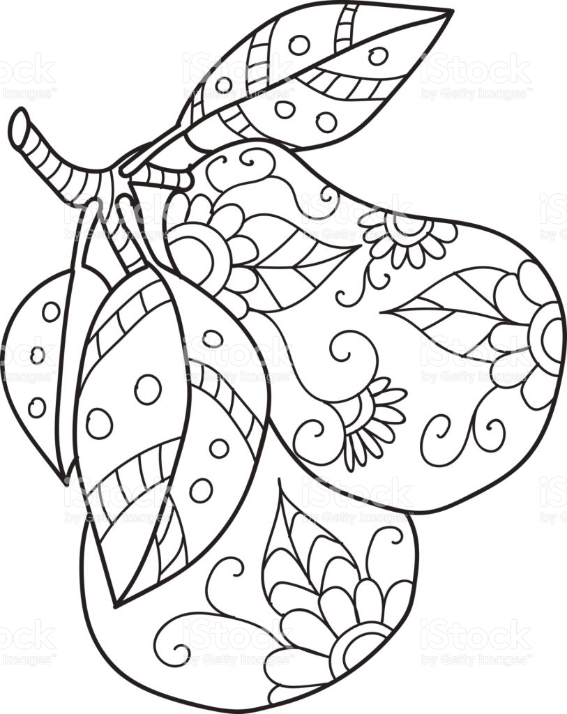 813x1024 Best Of Fruit Coloring Pages For Adults Collection Printable