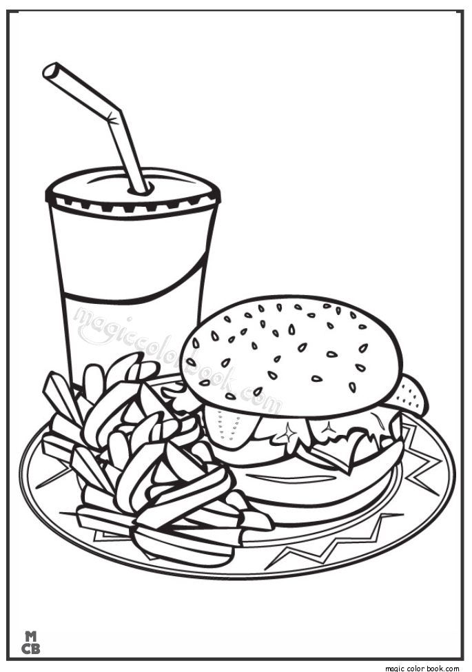 685x975 Fast Food Coloring Pages