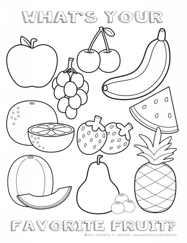 750x971 Food Coloring Page