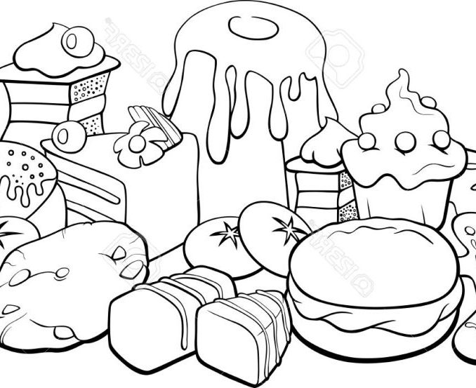 678x553 Food Colouring Pages Food Coloring Book Coloring Pages Kids Free