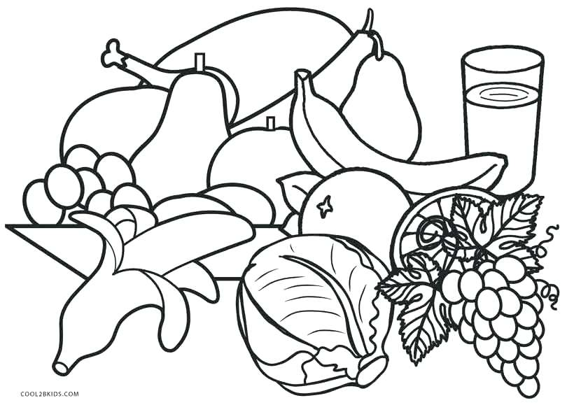 810x579 Free Printable Food Coloring Pages For Kids Healthy Food Coloring