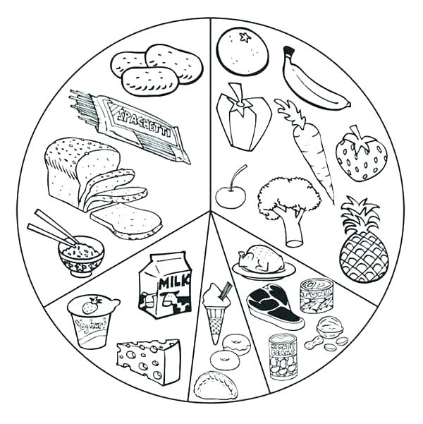 Nutrition and Health Coloring Pages: Food Groups and Careers | 601x600