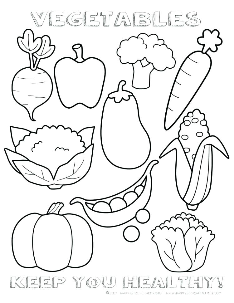 750x971 My Healthy Plate Coloring Page Good For Vegetable Pages Food Idea