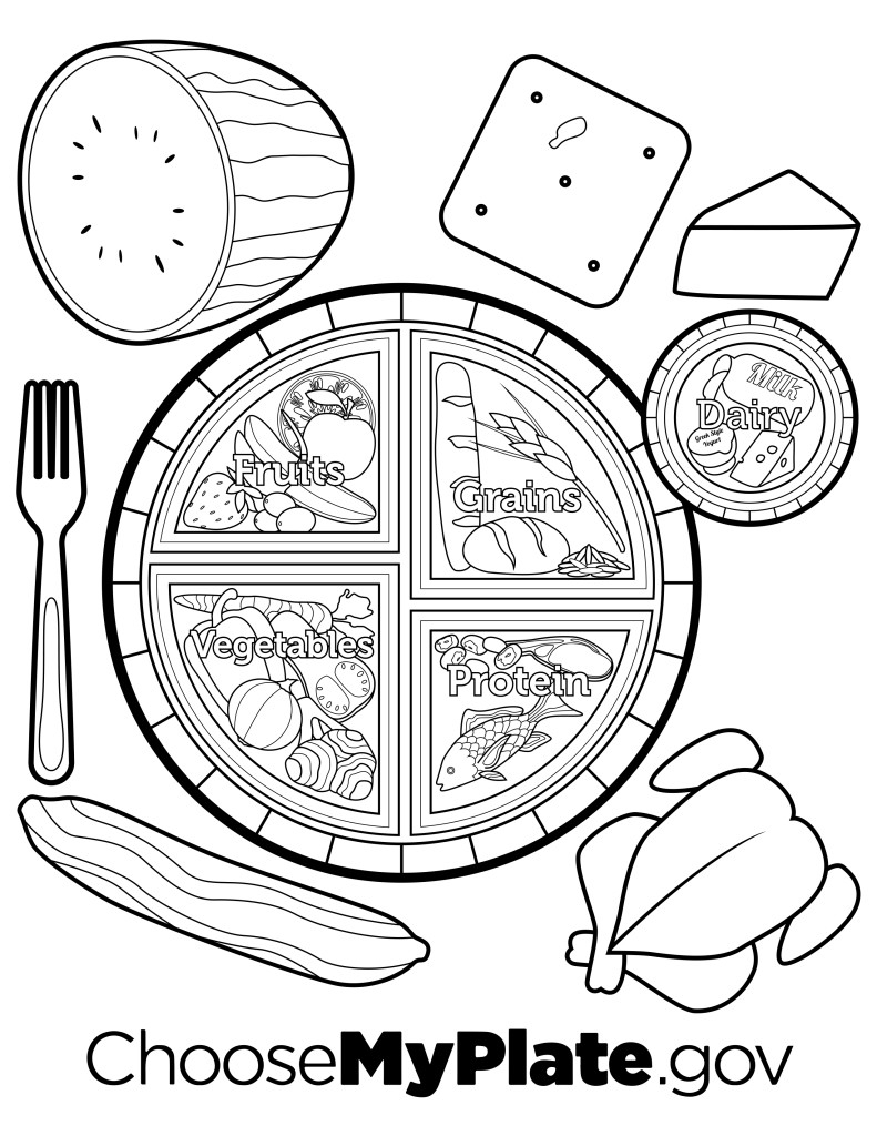 791x1024 My Plate Coloring Page Printable Coloring Pages