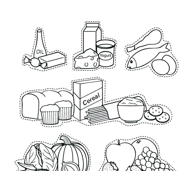 Food Plate Coloring Page at GetDrawings.com | Free for personal use ...