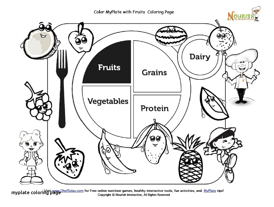 960x725 Myplate Coloring Page