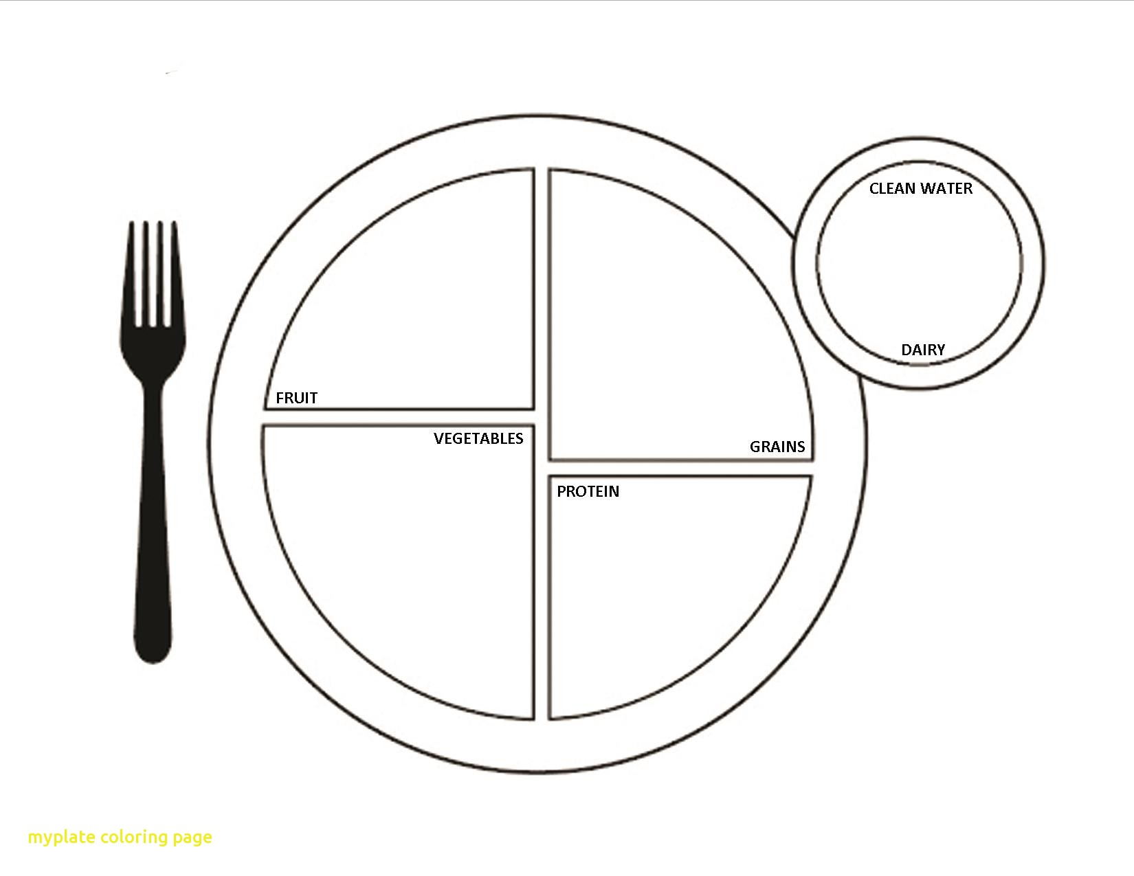 1650x1275 Myplate Coloring Page With My Plate Coloring Page