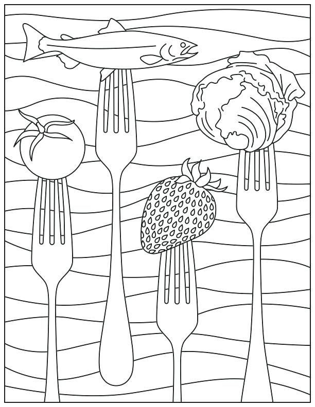 612x792 Coloring Page Collection Protein Coloring Pages Steak Coloring