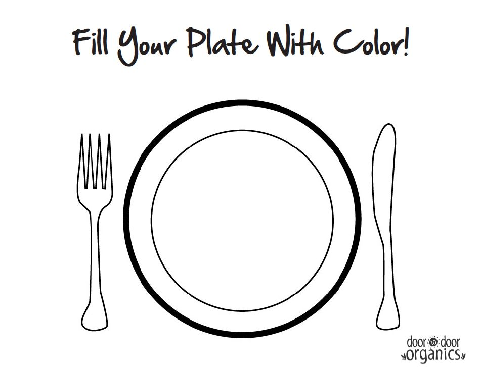 951x737 Plate Coloring Sheets