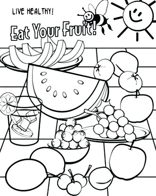 522x657 Coloring Pages Food Food Coloring Pages Plus Eat Your Healthy Food