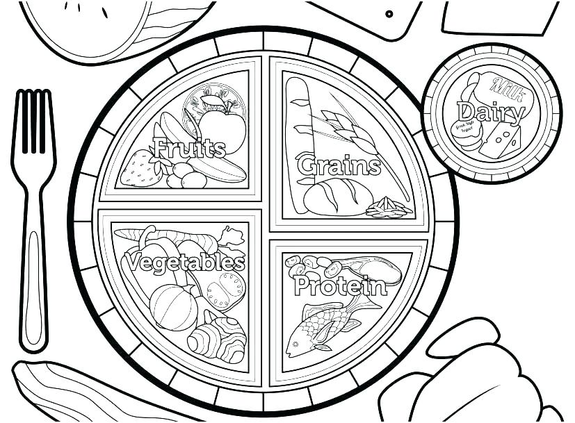 827x609 Coloring Pages Of Food Coloring Page Awesome Nutrition Coloring
