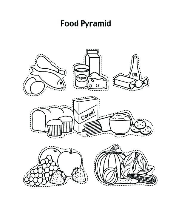 600x683 Pyramid Coloring Pages Food Pyramid Coloring Page Preschooler Food