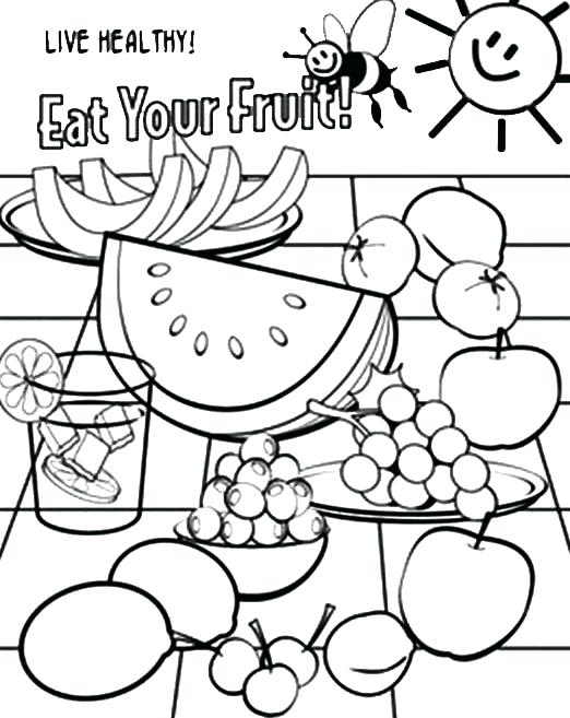 522x657 Coloring Pages Of Healthy Foods Healthy Food Coloring Page Healthy