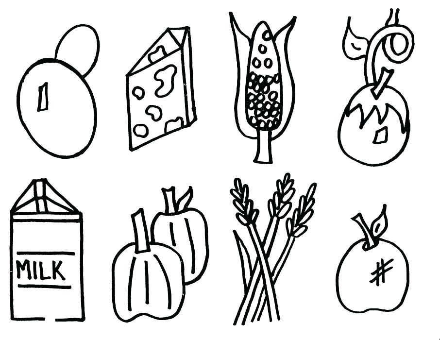 906x700 Food Chain Coloring Pages Food Coloring Pages To Print Food