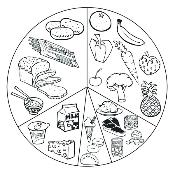 600x601 Food Web Coloring Pages Food Coloring Pages Plus Foods List