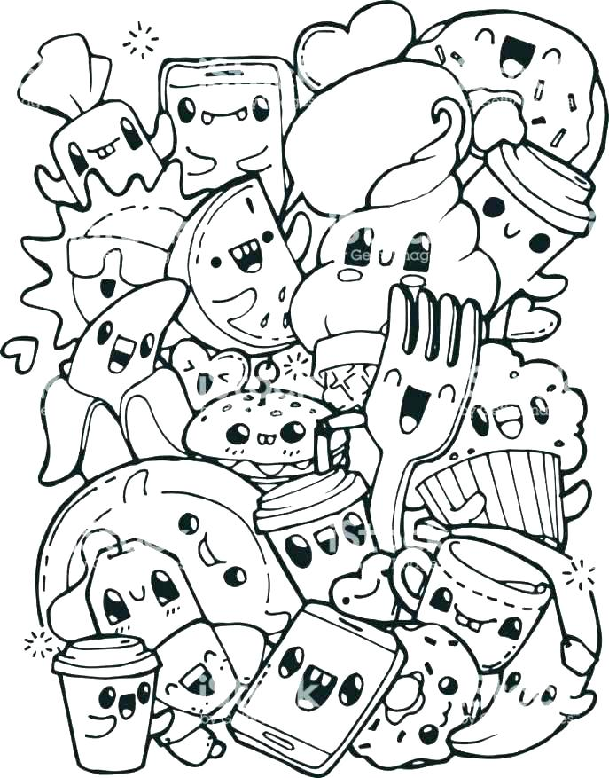 687x877 Food Coloring Page Coloring Pages Of Food Breakfast Coloring Pages