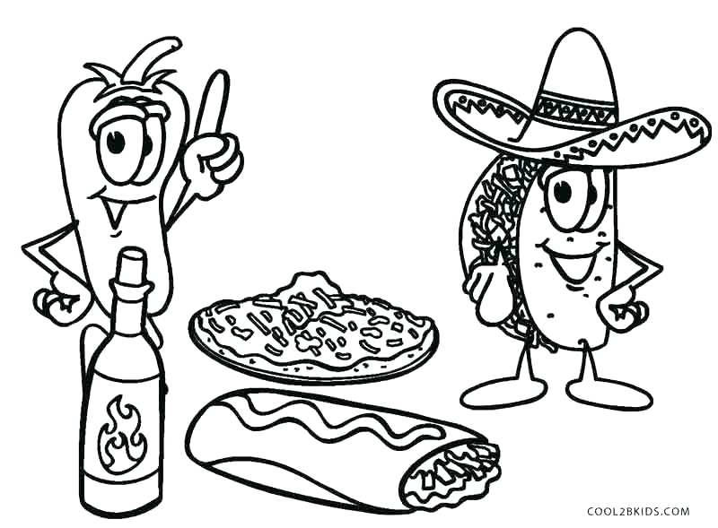 800x589 Food Coloring Pages Epic Food Coloring Pages For Your Print