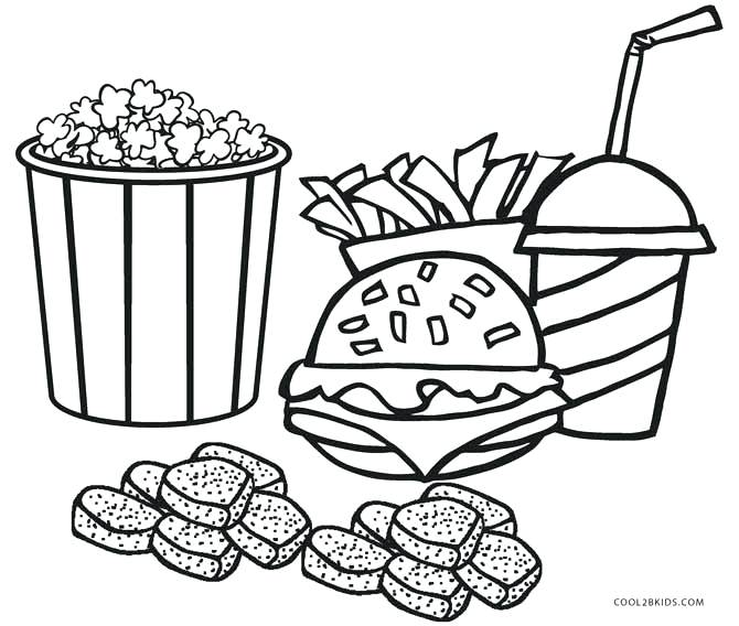 670x568 Food Coloring Pages Food Coloring Page Healthy Book Packed