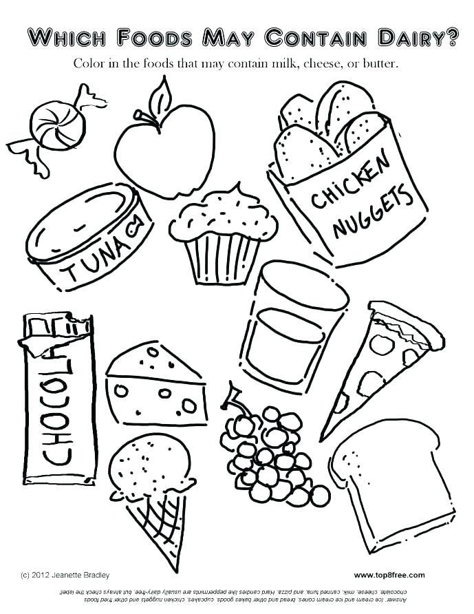 689x892 Food Coloring Pages Taco Junk Food Coloring Page Cute Food