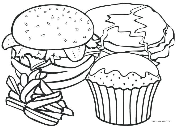 750x536 Fresh Food Coloring Pages And Fast Food Coloring Pages Food