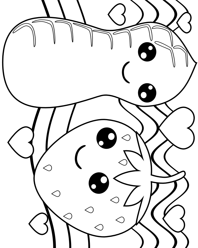 800x1000 Fruit With Faces Coloring Pages Coloring Pages