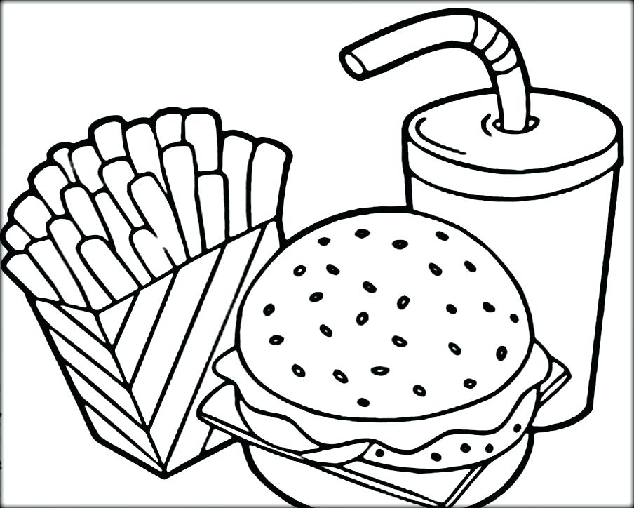 904x724 Coloring Pages Food