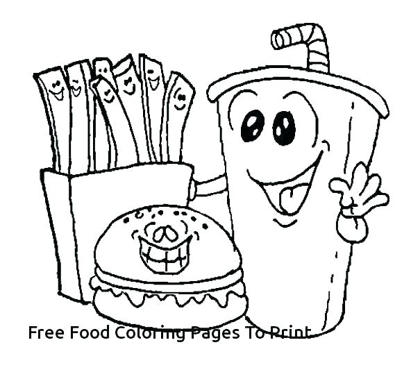 592x536 Food Coloring Pages