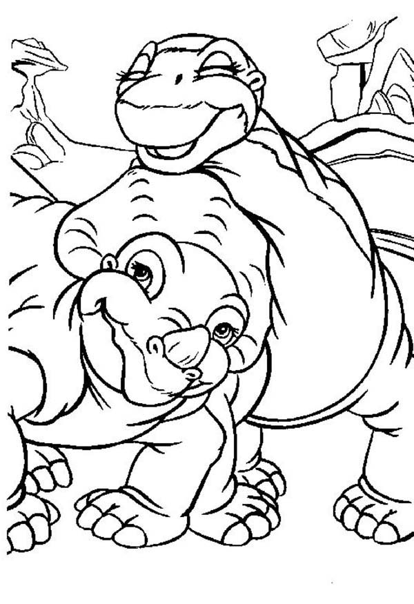 600x875 Land Before Time, Cera And Little Foot Land Before Time Coloring