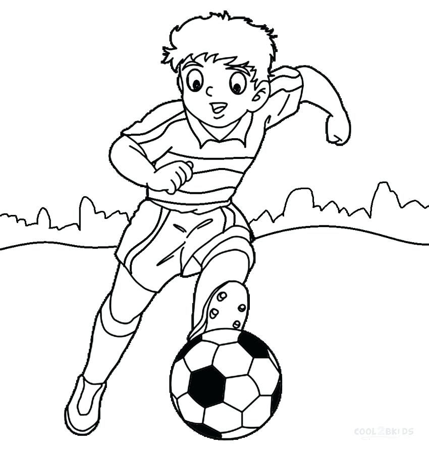 850x890 Soccer Fun Coloring Page Print A Soccer Ball And Pair Of Soccer