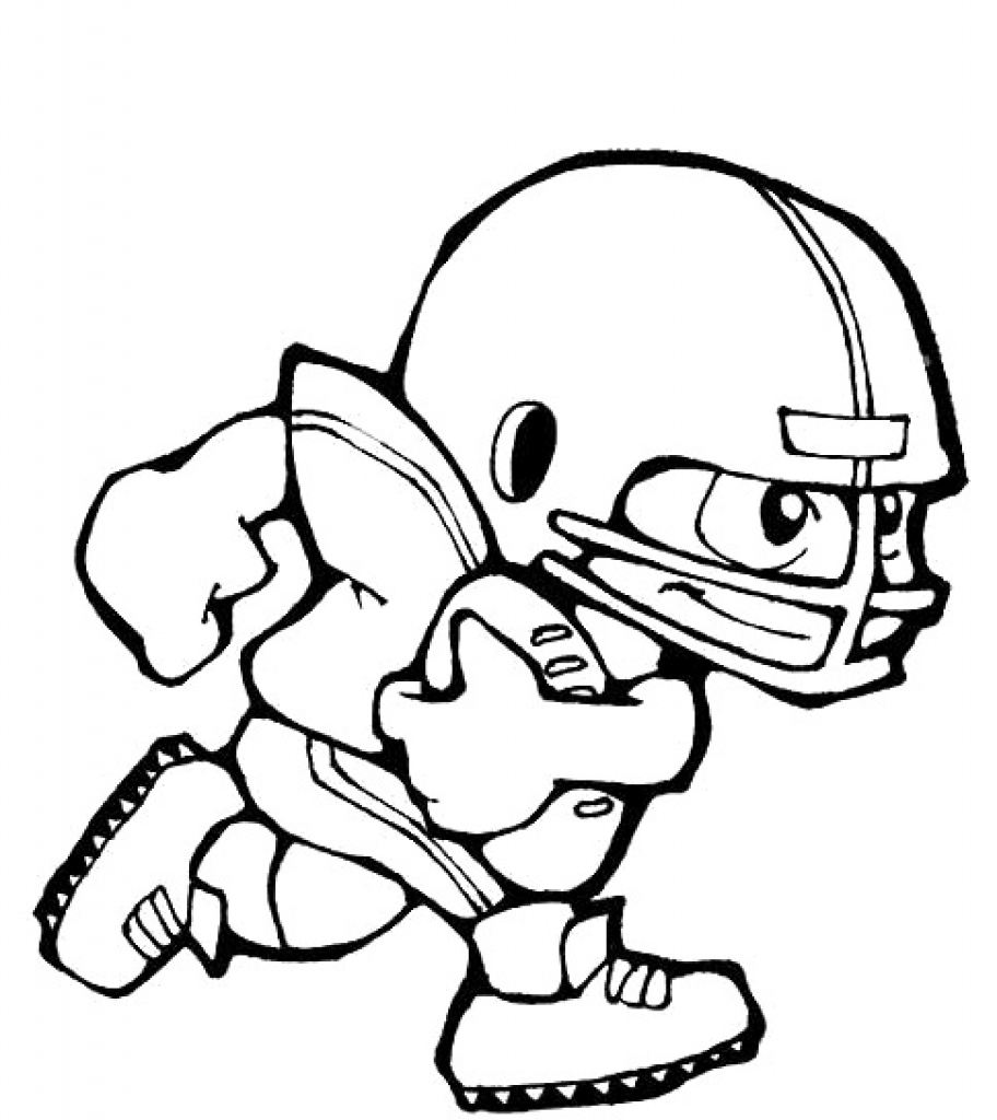 912x1024 Football Player Coloring Pages