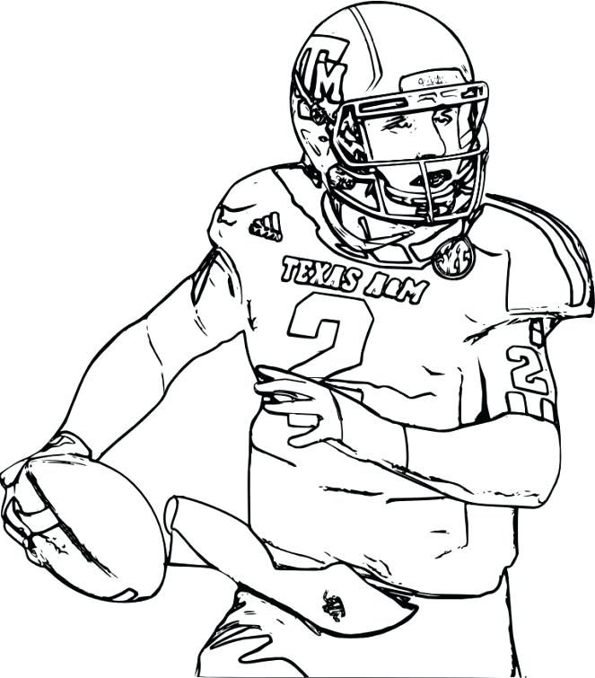 663x755 Coloring Page Football Football Players Coloring Pages Football