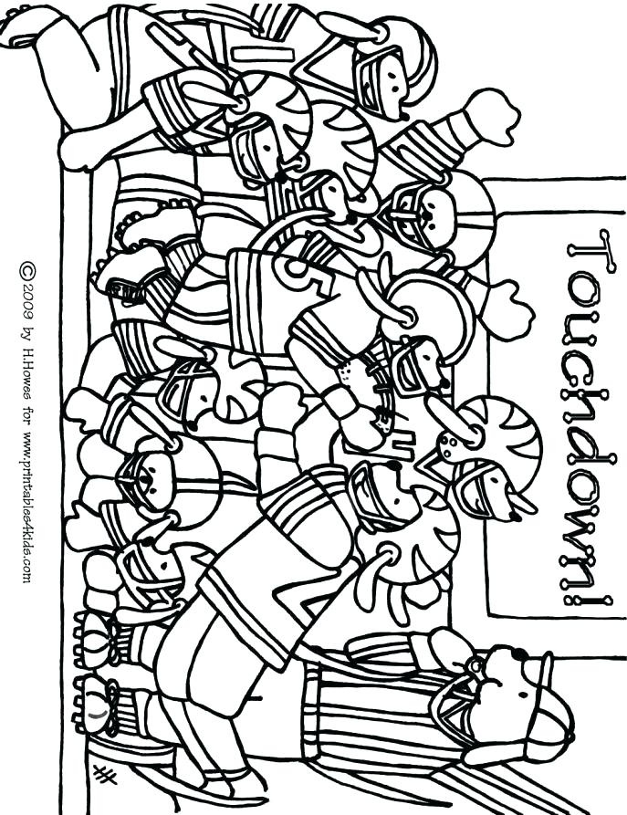687x893 College Football Coloring Pages Brilliant Football Coloring Page